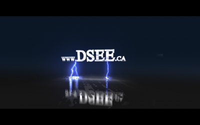 D See Video Glitch Logo